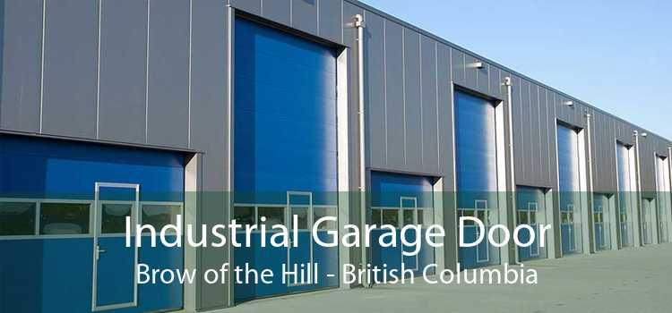 Industrial Garage Door Brow of the Hill - British Columbia
