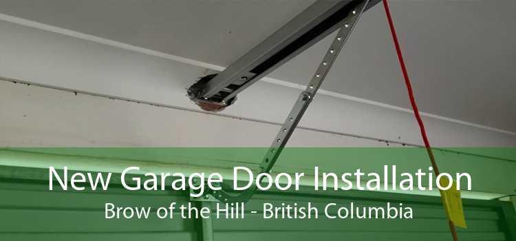 New Garage Door Installation Brow of the Hill - British Columbia