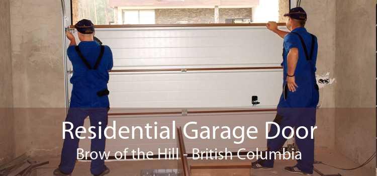 Residential Garage Door Brow of the Hill - British Columbia