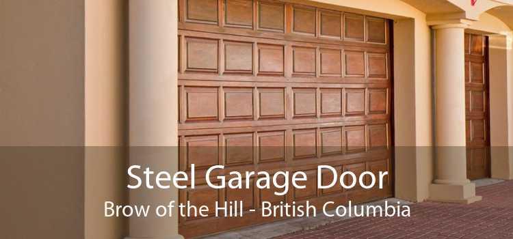 Steel Garage Door Brow of the Hill - British Columbia