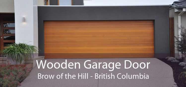 Wooden Garage Door Brow of the Hill - British Columbia