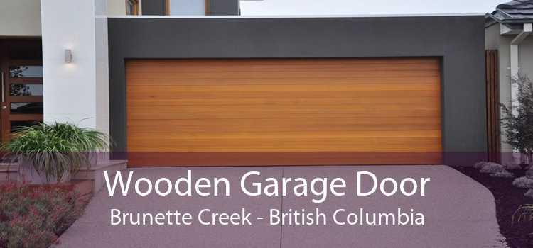 Wooden Garage Door Brunette Creek - British Columbia