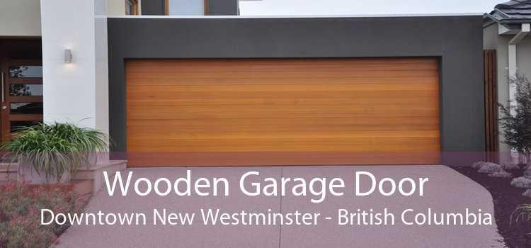 Wooden Garage Door Downtown New Westminster - British Columbia